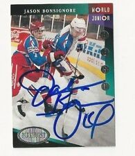 1993 Parkhurst Autographed Hockey Card Jason Bonsignore Team USA