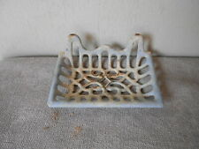 French Antique CAST IRON Soap Dish Holder in Blue LAVANDER