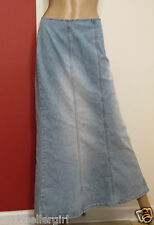 VENEZIA BLUE JEAN LONG MAXI FADED BLUE MERMAID DENIM SKIRT SZ 18