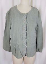J.Jill Silk Linen Frog Closures Lightweight Shirt Style Jacket Top Womens L Tall