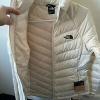 Womens The North Face  Flare, S Full Zip 550-Down Winter Packable Jacket - White