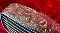 LAMBRETTA GP DL CUSTOM HAND ENGRAVED POLISHED FRONT GRILLE