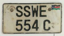 SOUTH SUDAN Motorcycle license plate AFRICA South Sudanese Extremely Rare.