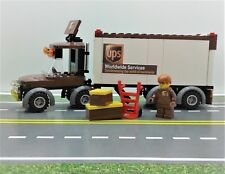 LEGO city UPS Trailer Vehicle, HAND TRUCK, 2 BOXES & Minifigure. Ready to Play!