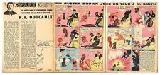 1965 DOCUMENT (ref IPS 1406) DESINNATEUR BD : R.F OUTCAULT BUSTER BROWN 3pages