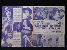 Guys and Dolls- Marlon Brando, Frank Sinatra Musical Movie Herald ad mini poster