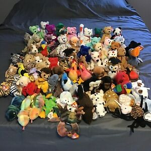 Huge Lot of Vintage Ty Beanie Babies Retired Collectibles w/ Tag Errors Rare!