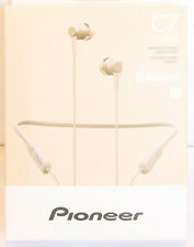 Pioneer C7 Gold SE-C7BT(G) In-Ear Wireless Neckband Design Headphones. NEW!