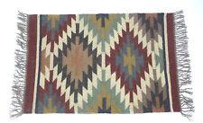 Handwoven Floor Kilim Rugs  2x3 Jute Area Rug Hand loomed Rustic Jute Door Rugs