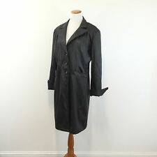 WEATHER TAMER Womens Black Raincoat Fully Lined Great Look Women's Size XL