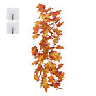 Home Autumn Fall Leaf Hanging Vines Maple Garland Artificial Thanksgiving Decor