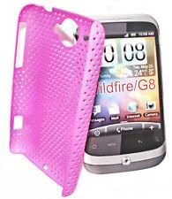 Mesh Case Hard Cover Case Hülle Schutzhülle Schutz - Farbe Pink für HTC Wildfire