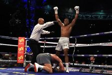 Anthony Joshua vrs Wladimir Klitschko knockdown 2017 A4 260gsm  Photo Picture