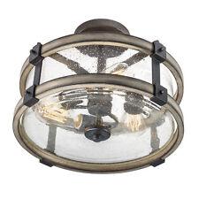 Kichler Lighting Ceiling Light Fixture Vintage Clear Glass Flush Mount 3 Lights