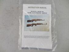 Vintage Factory MAK-90 Semi-Automatic Rifle Instruction Manual Excellent