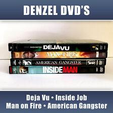 4 Lot DVD Denzel Washington Deja Vu Inside Job Man Fire American Gangster Movies