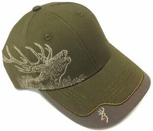 Browning Deer Scene Deerscene Brown Hat Cap