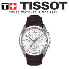 NEW GENUINE TISSOT COUTURIER QUARTZ CHRONOGRAPH WATCH T035.617.16.031.00 BROWN