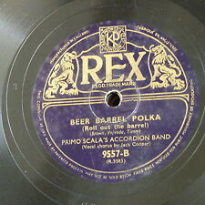 78rpm PRIMO SCALAs ACCORDEON BAND beer barrel polka / one day when we were young