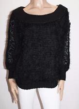 Le Papillon Designer Black Handmade Long Sleeve Jumper Size 38- S BNWT #SM03