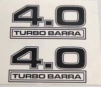 KILLER GRAFFIX TURBO BARRA 4.0 XR6 F6 FORD FALCON DECAL BADGE 1 PAIR