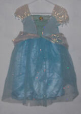 Disney Cinderella Costume Girls 4 to 6X Blue Dress Princess Dress Up Sequins