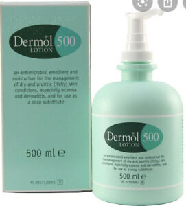 Dermol 500 Lotion moisturiser for itchy, dry skin conditions (1 pack of 500g)