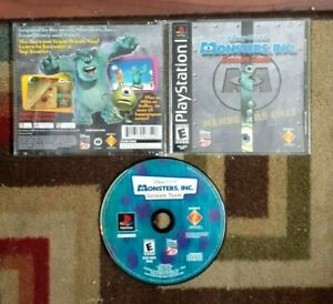 Monsters Inc. Scream Team Complete (Sony PlayStation 1 2001) VG Shape & Tested