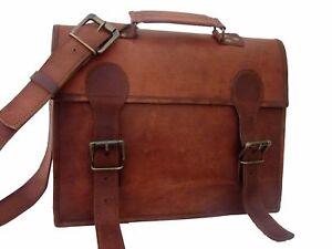 Vintage Briefcase Satchel Soft Leather Laptop Messenger Bag Shoulder New