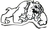 Mechanic Sticker Toolbox Decal Locker Sticker Bull Dog Biker Decal