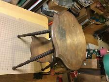 Original Oak side Table -- legs come off.