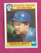 RARE 1986 ROYALS GEORGE BRETT QUAKER CHEWY GRANOLA BARS NRMT+ CARD (INV# C0612)