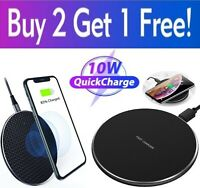 Qi Wireless Fast Charger Charging Pad Dock for Samsung iPhone Android Cell Phone