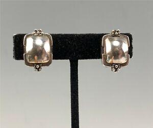 Sgnd Michael Dawkins Sterling Silver Clip-On Earrings