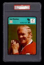 PSA 9 BOBBY HULL Sportscaster Hockey Card #05-20 ITALY