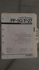Yamaha pf-50 p-27 service manual original repair book stereo turntable