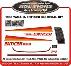 1980 YAMAHA ENTICER 340 SNOWMOBILE DECAL KIT reproductions graphics
