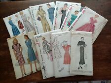 Lot 9 Ff Vtg Sewing Patterns 1930s-1960s McCalls Simplicity Sizes 12-20 Unused