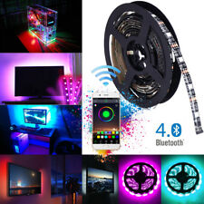 Waterproof 5050 RGB LED Strip Light Bluetooth Smart Control Car SUV USB Powered