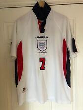 1997-99 England Home Shirt - XL -*Beckham 7 On Back*