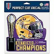 "LSU Wincraft 2019 National Championship 8"" x  8"" Perfect Cut Decal"