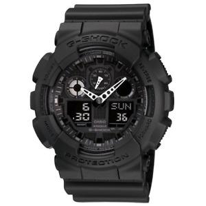 Casio GA-100-1A1ER G-Shock Alarm Chronograph Men's Watch - Black