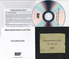 BLACK REBEL MOTORCYCLE CLUB ECHO RARE 1 TRACK PROMO CD