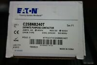 Eaton C25BNB240T Definite Purpose Contactor, New in Box, 40 Amps @ 600V, 2 Pole