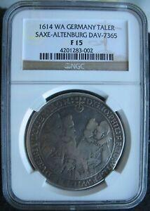 1614 WA German Saxe-Altenburg Silver Thaler NGC F-15
