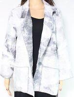 Caroline Rose Women's Jacket Gray Size Large L Printed Open Front $348- #054
