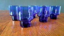 6 verres bleu cobalt , bar, bistrot année 60/70 vintage!