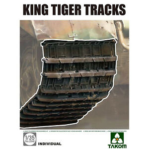 TAKOM 1/35 KING TIGER TRACKS ARMORED TANK ACCESSORIES MODEL DISPLAY COLLECTIONS