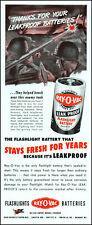 1944 WW2 U.S. Army soldiers Bazooka Ray-O-Vac batteries vintage art print ad L67