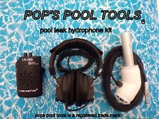 pool leak detection - swimming pool leak detector - hydrophone - pops pool tools